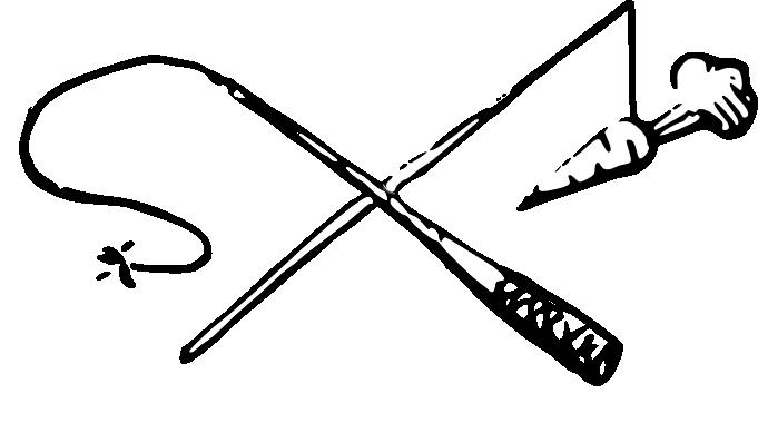 Pisk og gulrot via inksc delv fylt opak pisk