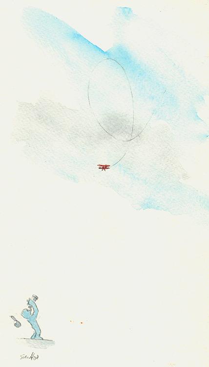 Fly og mann m kikkert 72
