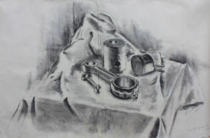 Maskindel-stilleben II